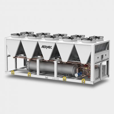 Air-cooled chillers and heat pumps