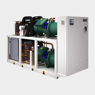 Water-cooled chillers and heat pumps